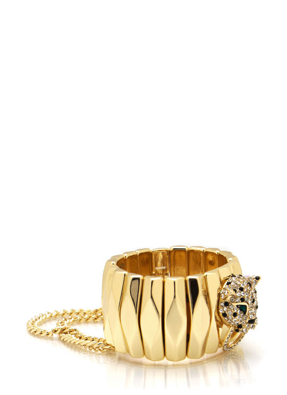 Chain Accent Leopard Bracelet GOLD
