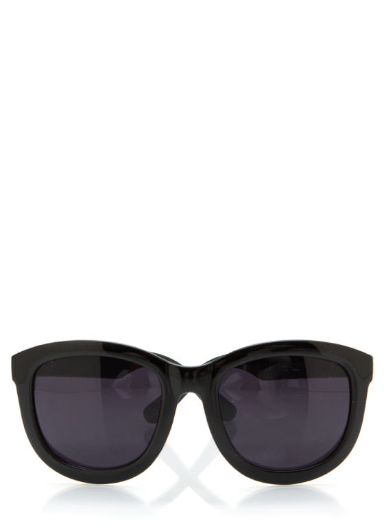 Chevron Accent Arm Sunglasses BLACKGOLD