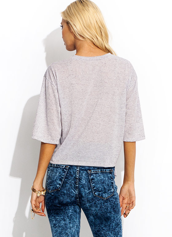Knotted Blended Tee LAVENDER