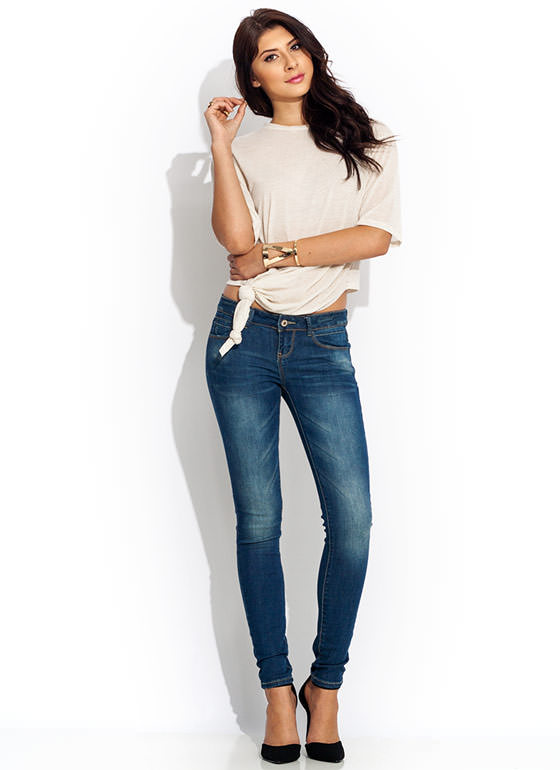 Knotted Blended Tee OATMEAL
