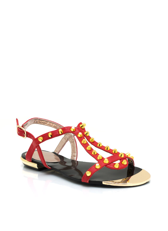 Studded Sandals RED