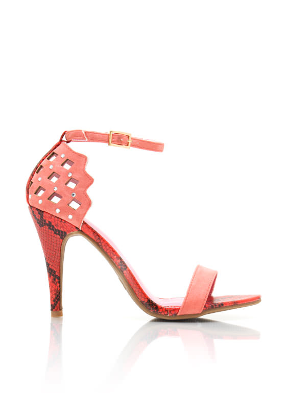 Cut Out Reptile Heels CORAL