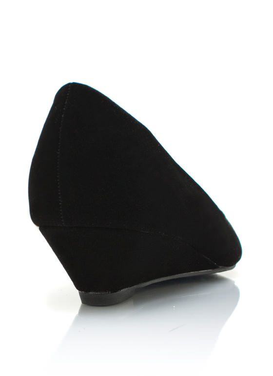 Pointy Toe Wedges BLACK