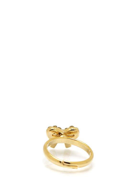 Embellished Bow Ring GOLD