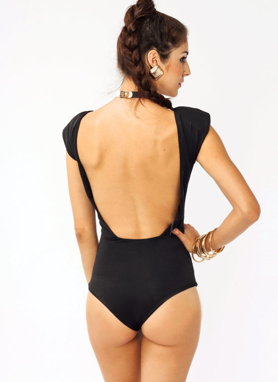 Open Back Bodysuit BLACK