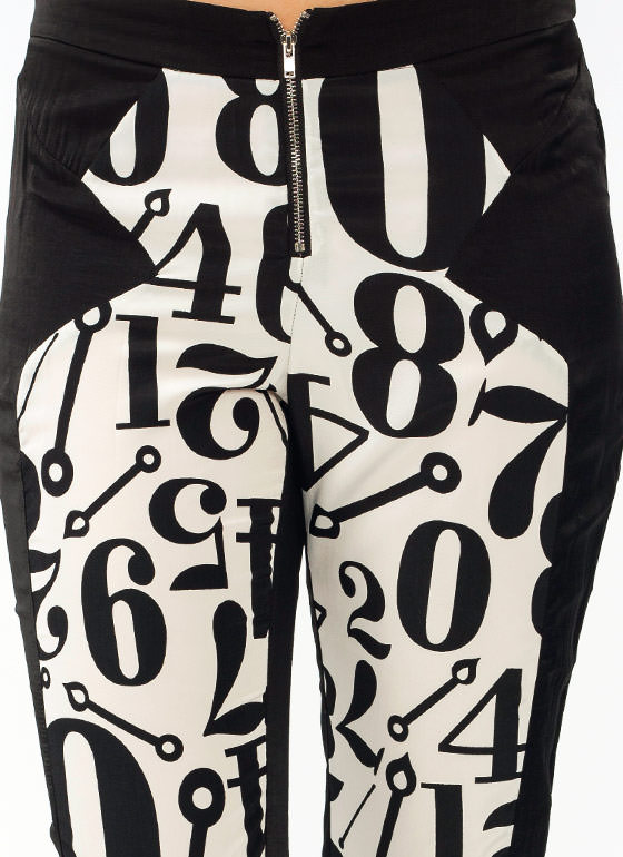 Numbered Lounge Pants IVORYBLACK
