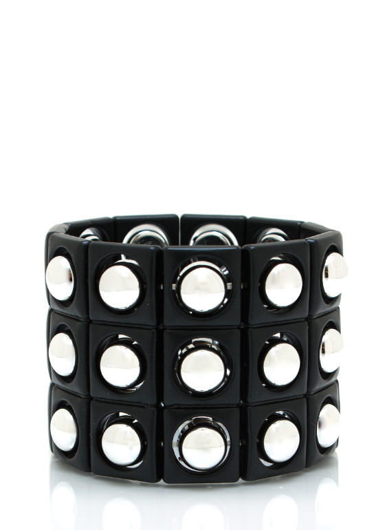 Studded Stretch Bracelet BLACKSLVR