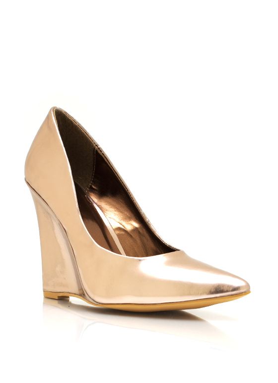Pointy Toe Wedges ROSEGOLD
