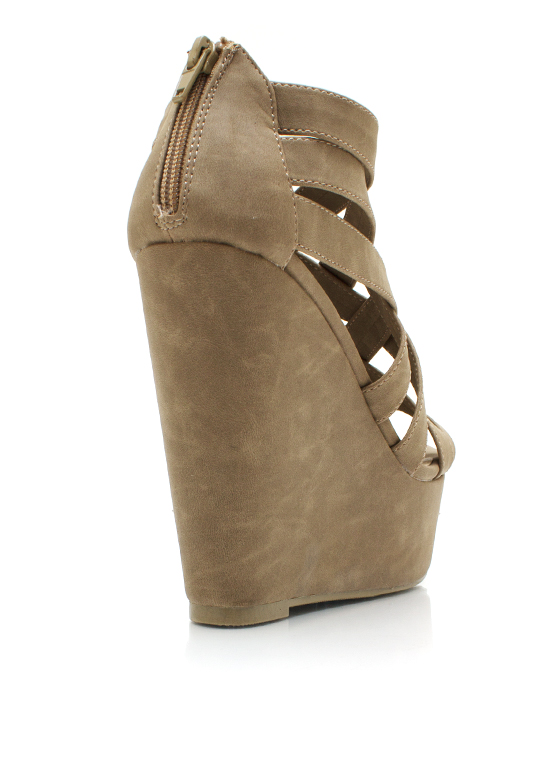 Caged Wedges STONE