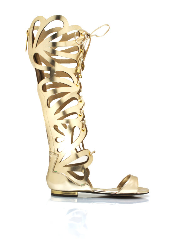 Teardrop Cut Out Metallic Sandals GOLD
