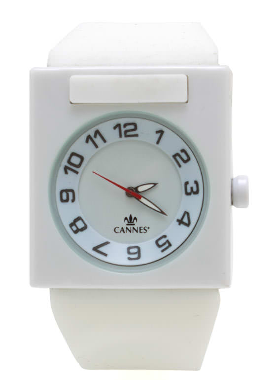 Square Face Silicone Watch WHITE