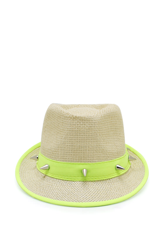 Spiked Fedora BEIGELIME