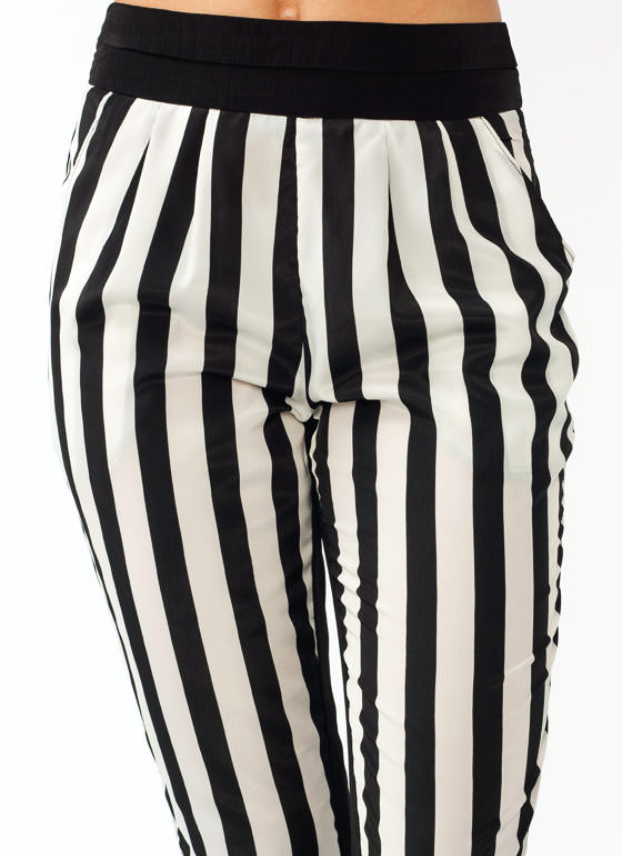 Pleated Striped Pants BLACKIVORY