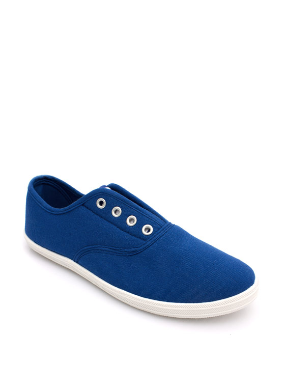 Laceless Canvas Sneakers BLUE