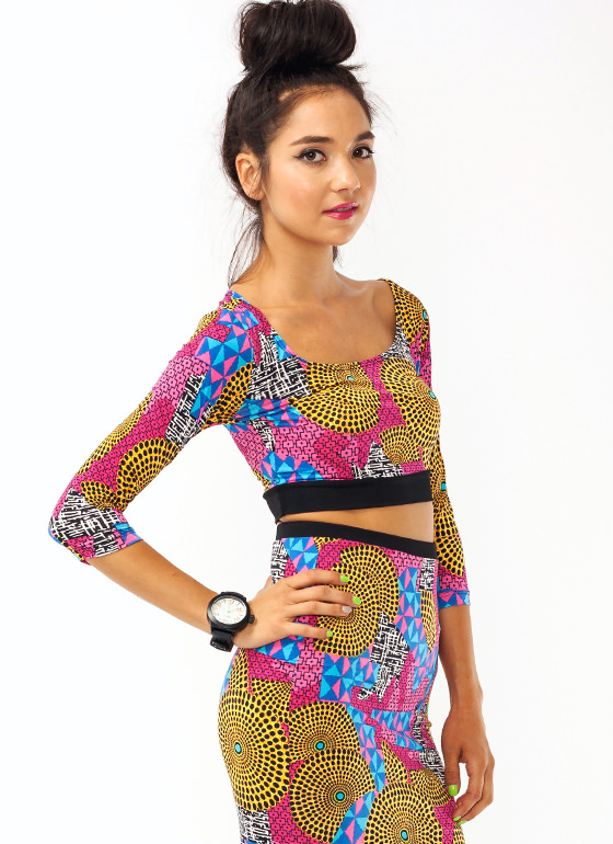 Wild Child Cropped Top PINKBLACK