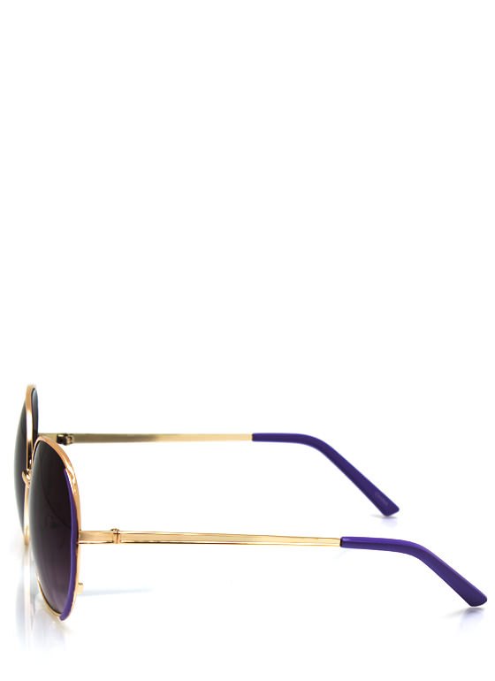 Pop Of Color Sunglasses PURPGOLD