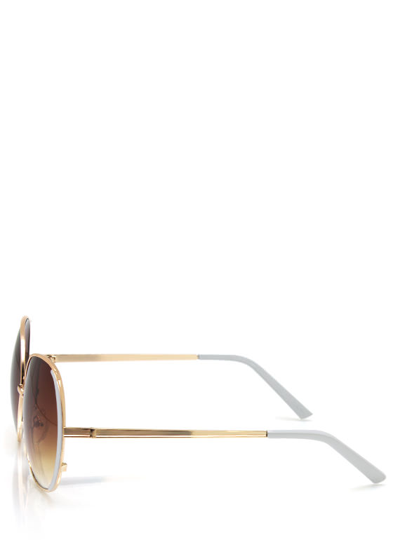 Pop Of Color Sunglasses WHITEGOLD