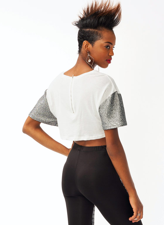 Back 2 Dope Cropped Top WHITESLVR