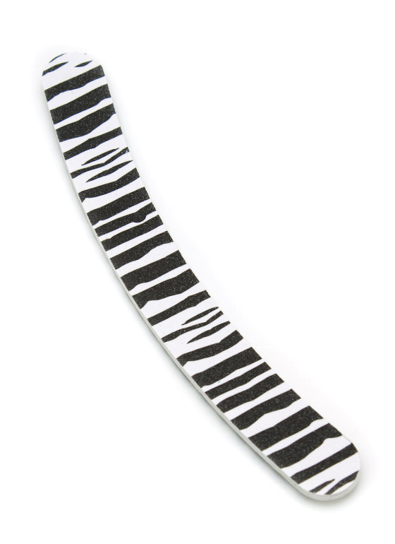 Wild Child Boomerang Nail File ZEBRA