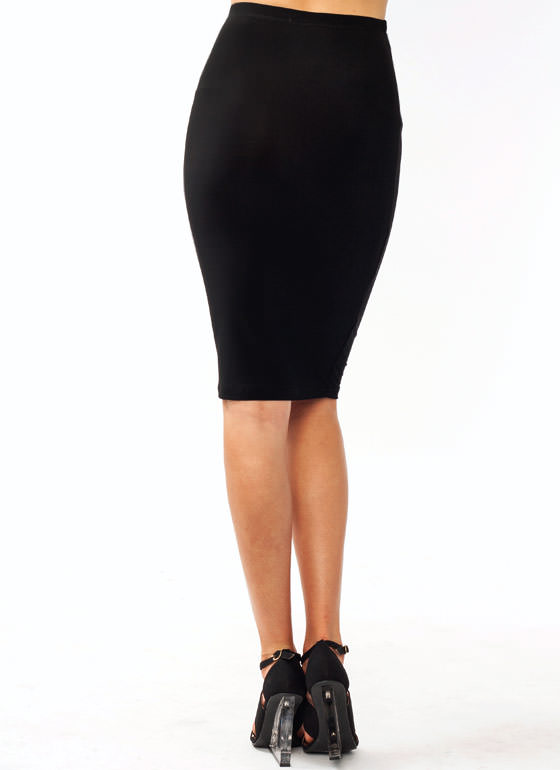 Super Slim Pencil Skirt BLACK
