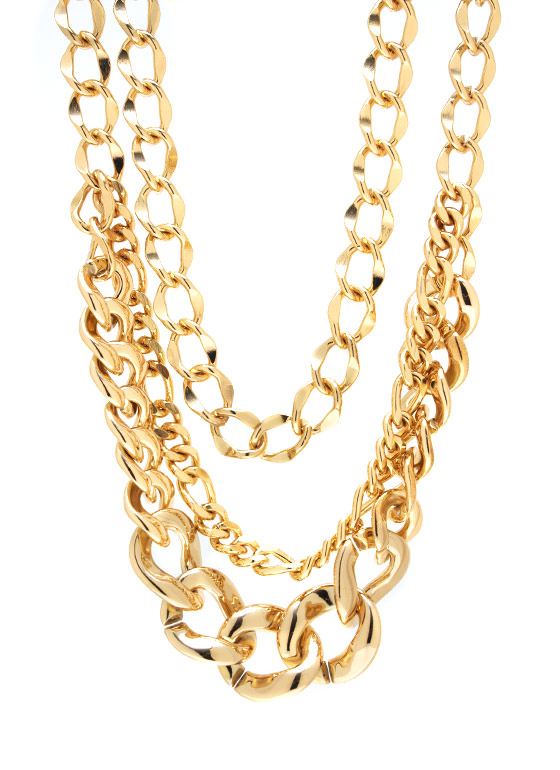 No Chain No Gain Necklace Set GOLD