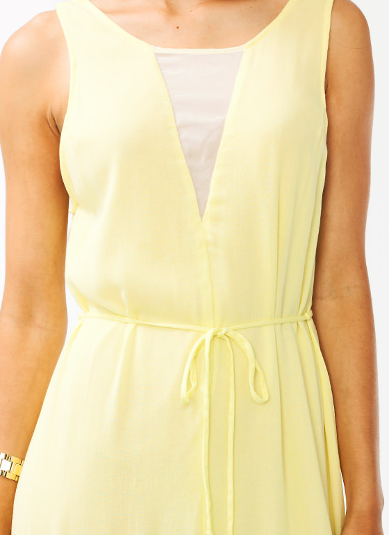 Shifty Slit Maxi Dress YELLOW (Final Sale)