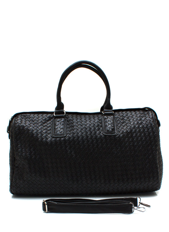 Weave It To Me Oversized Handbag BLACK