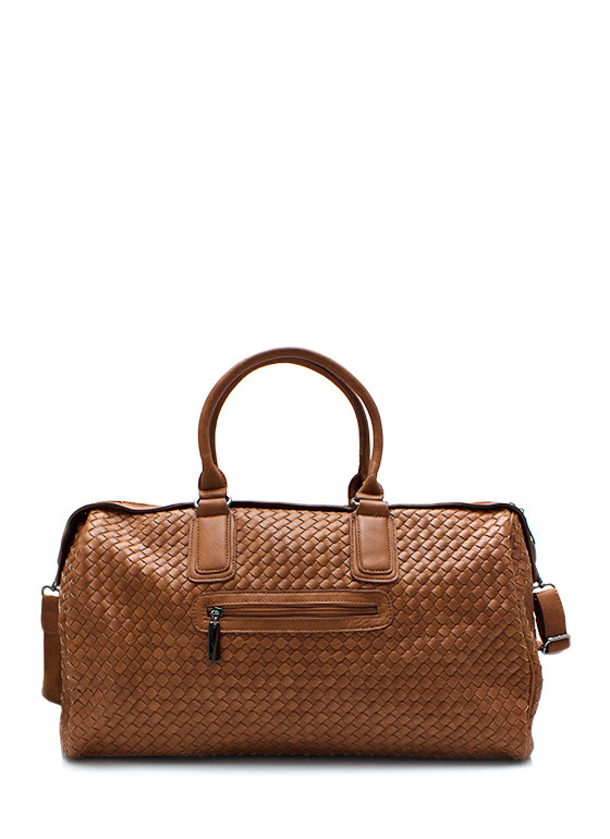 Weave It To Me Oversized Handbag BROWN