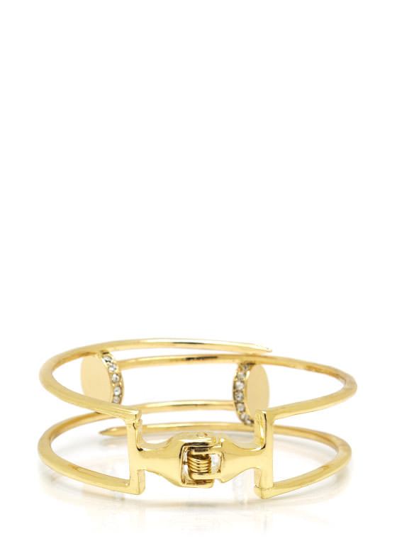 Get Nailed Hinge Bracelet GOLD