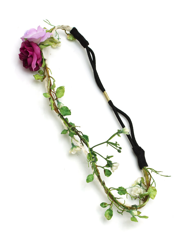 Flower Child Headband IVORYPURP