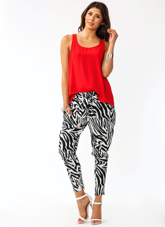 Urban Safari Zebra Lounge Pants BLACKWHITE