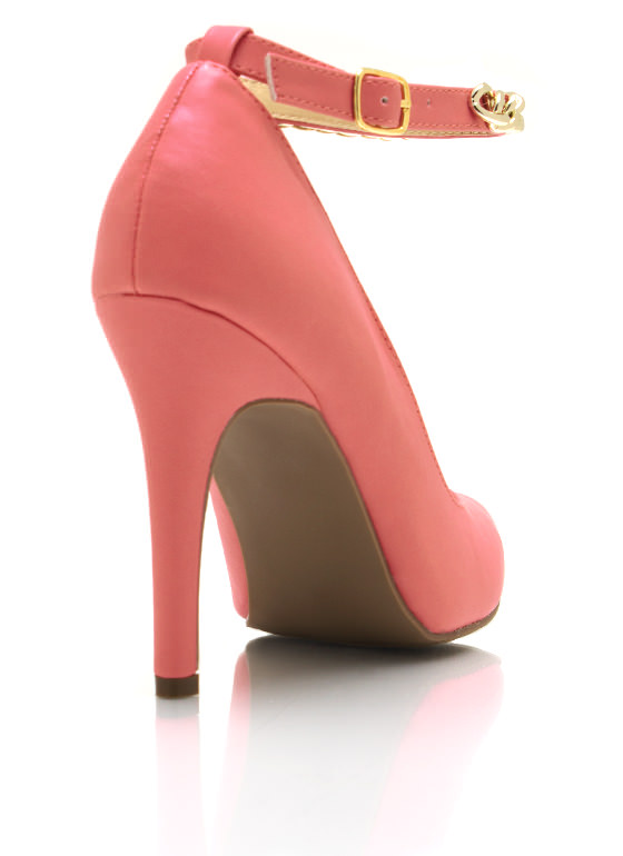 Chained Up Single Sole Heels CORAL