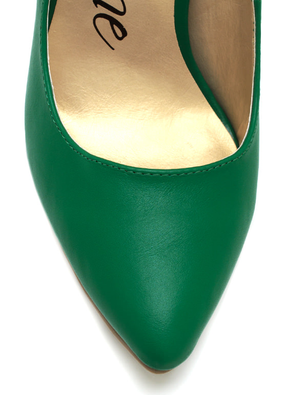 Chained Up Single Sole Heels GREEN
