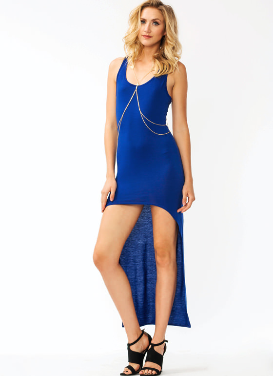 Racerback High Low Dress ROYAL
