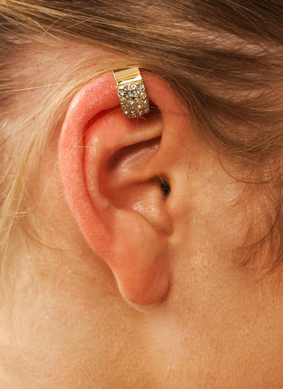 Diamonds Are Forever Ear Cuff GOLD
