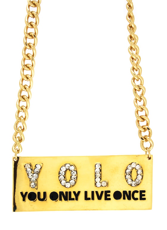 The Motto Baby Yolo Necklace GOLD