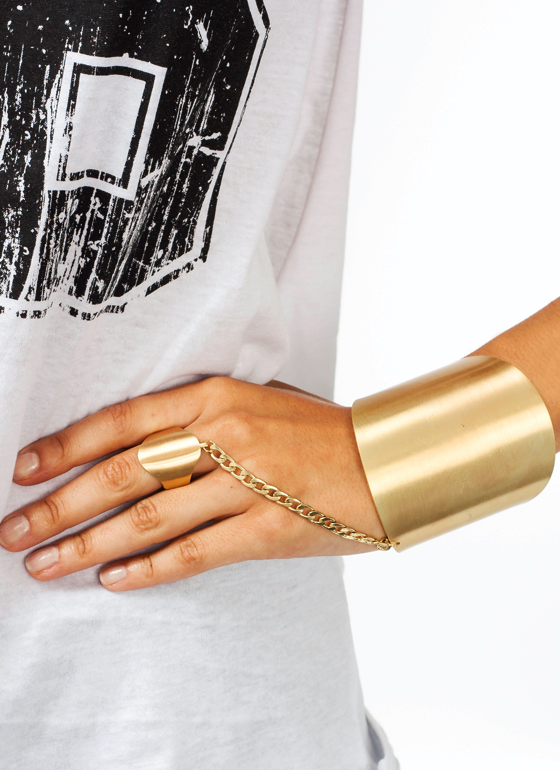 Be My Shield Hand Bracelet GOLD
