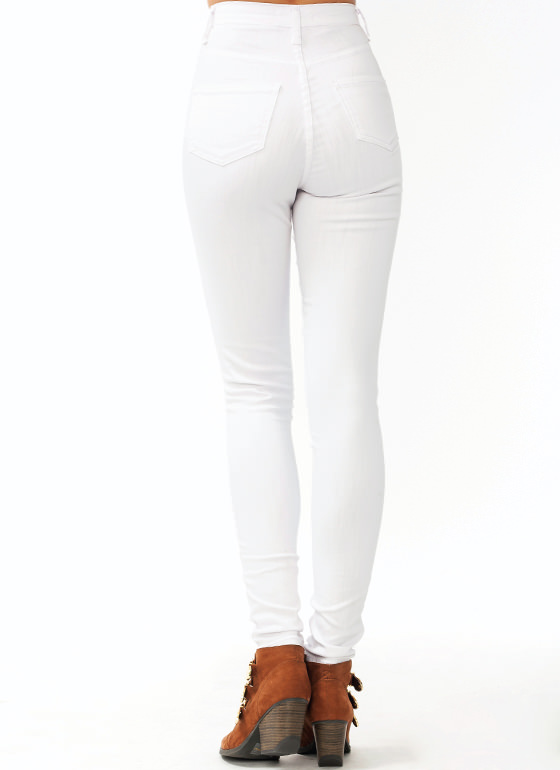 Totally Patriotic Distressed Jeans WHITE