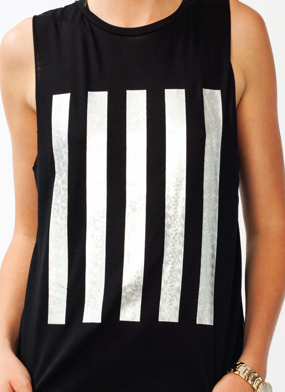 On The Line Holographic Tank BLACK