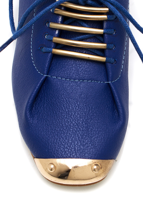 Metal Accented Jazz Flats BLUE