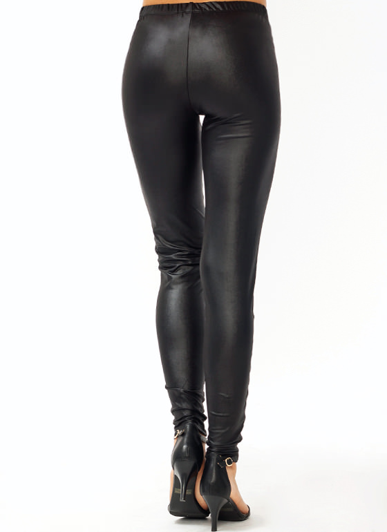 Check Me Out Liquid Leggings BLACK