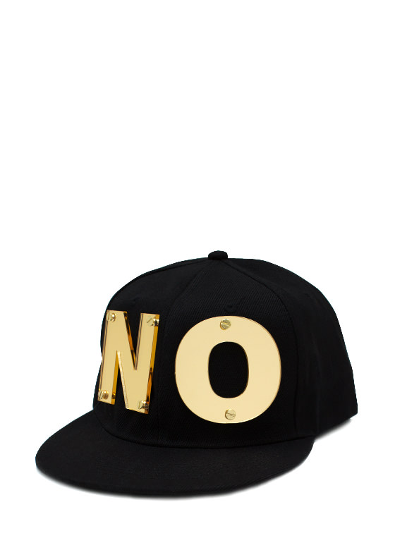 The Answer Is No Snapback Hat BLACKGOLD