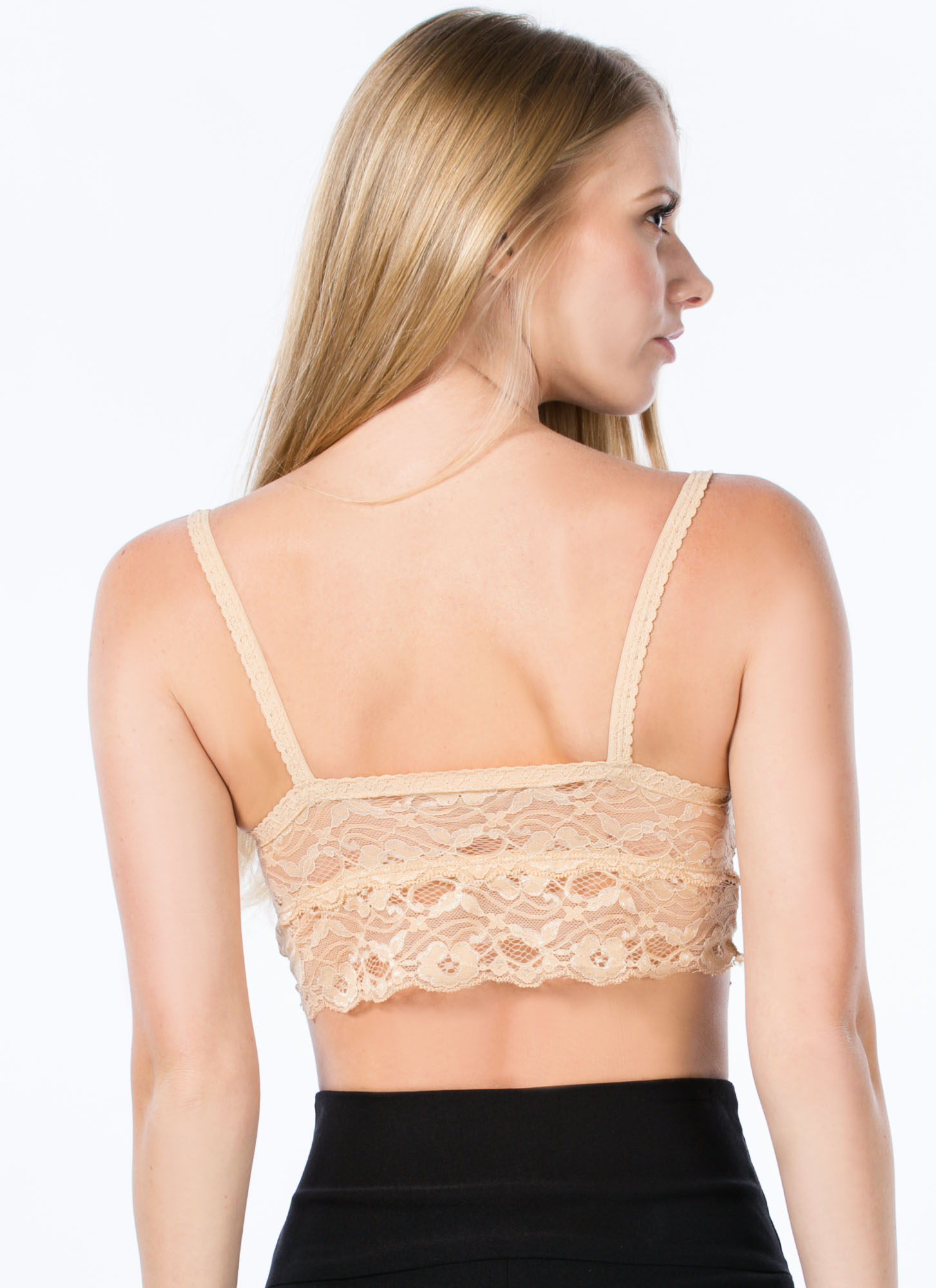 Ace Of Lace Bralette BEIGE