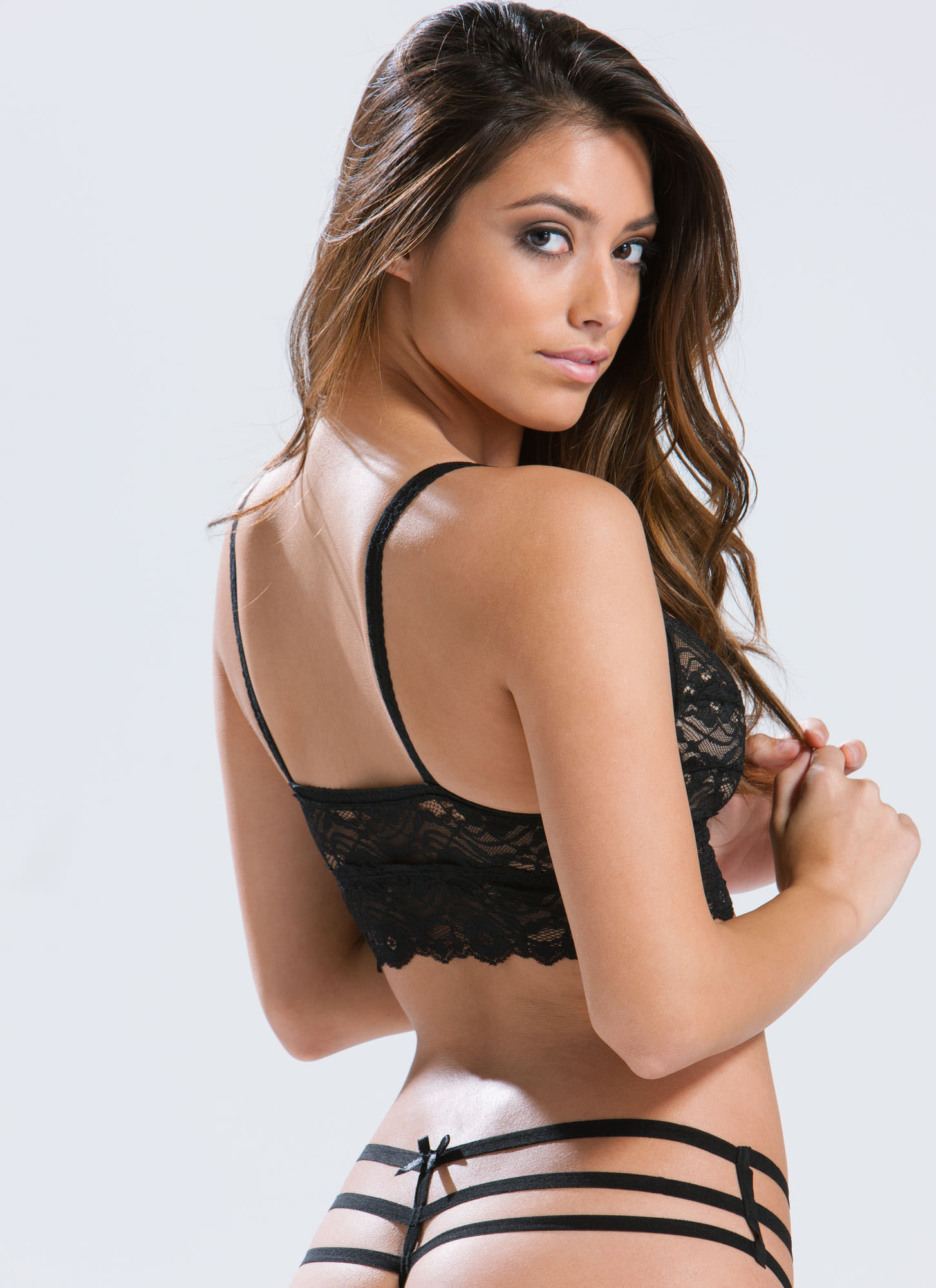 Ace Of Lace Bralette BLACK