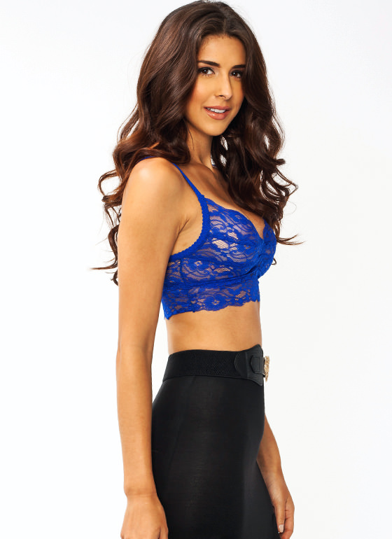 Ace Of Lace Bralette BLUE