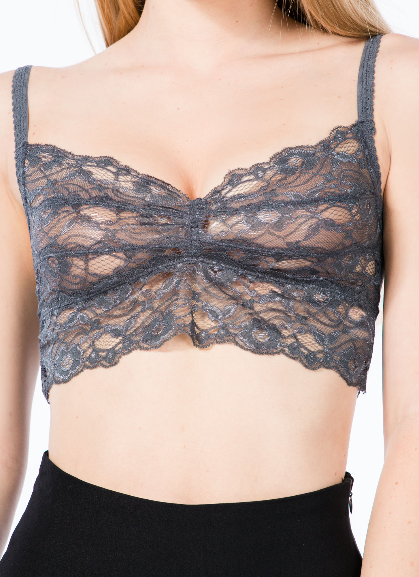 Ace Of Lace Bralette GREY