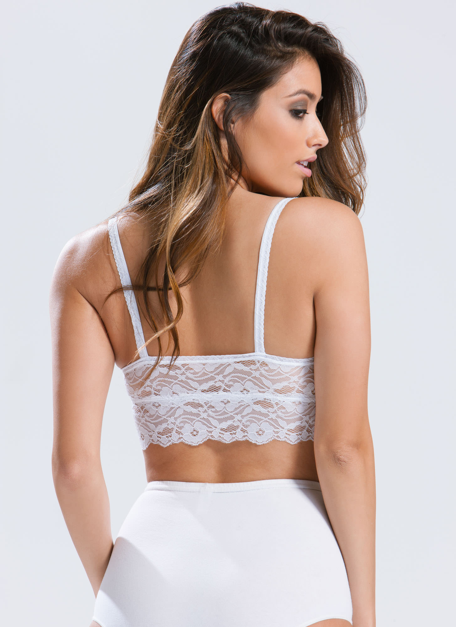 Ace Of Lace Bralette WHITE