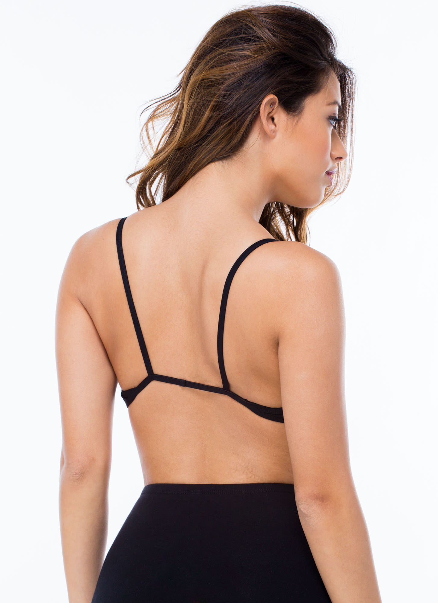 Strap Attack Bralette BLACK