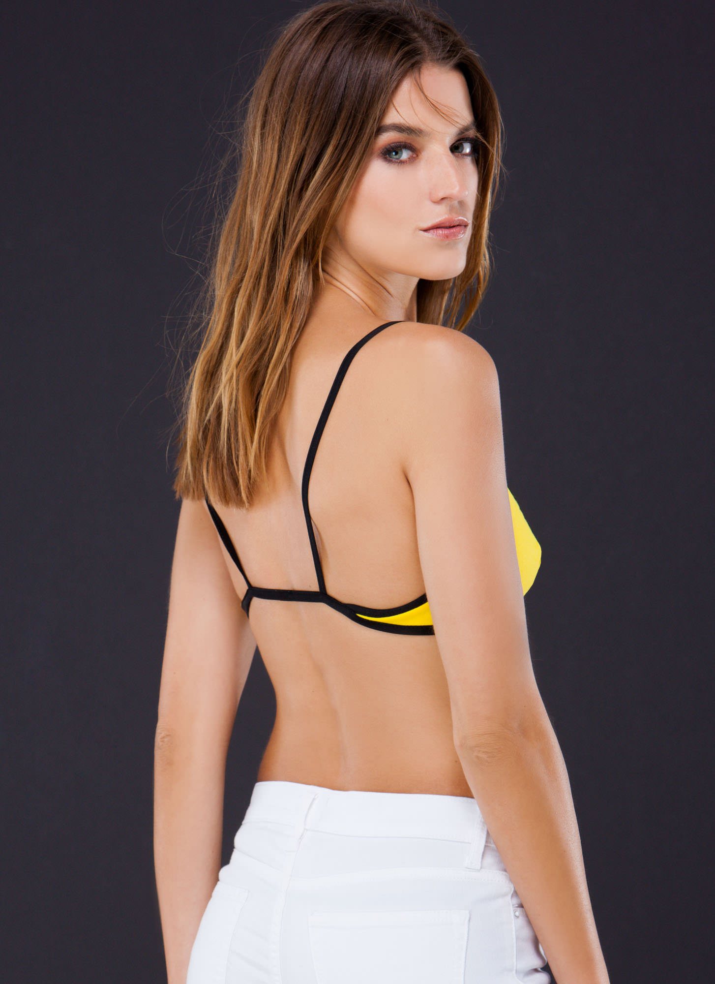 Strap Attack Bralette YELLOW