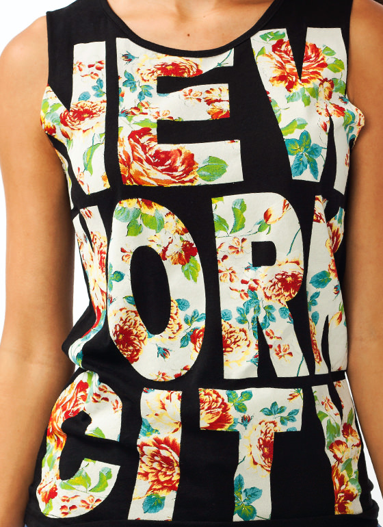Blooming Nyc Tank BLACK